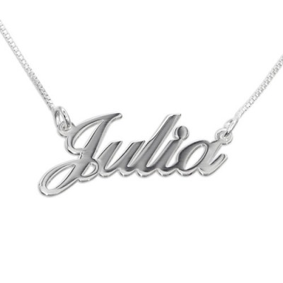 Kleine Personalisierte Klassische Namenshalskette in Silber / Gold / Rose Gold