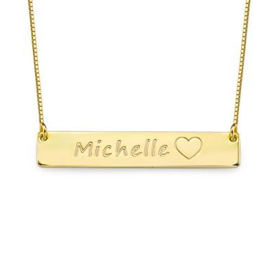 18ct Gold überzogene Icon Bar Halskette
