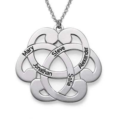 Silber mit eingraviertem Arabesque Halskette