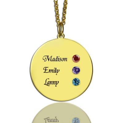 Benutzerdefinierte Disc Halskette eingravierten Namen für Mamma