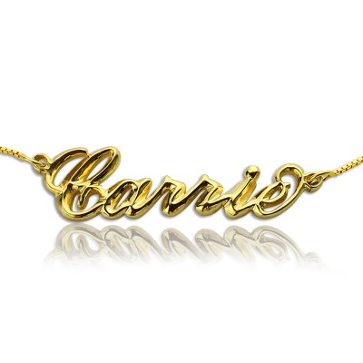 Personalisierte 3D Carrie Namenskette 18ct Gold Plating