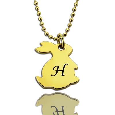 Tiny Kaninchen Anfangscharme Halskette 18 karätigem Gold überzogen