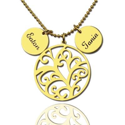 Stammbaum Halskette mit Namen Charm For Mom