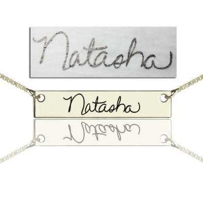Amuletten mit Ihrer Unterschrift Bar Silber