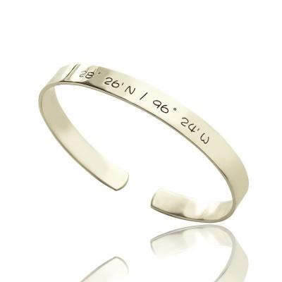 Personalisierte Breite Länge Coordinate Stulpe Armband Armband