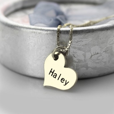 Paare Name Dog Tag Halskette Set mit Cut Out Herzen