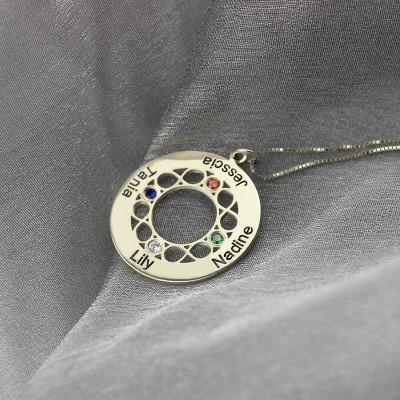 Unendlich Familiennamen Halskette für Mamma