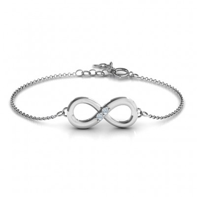 Personalisierte Twosome Infinity Armband