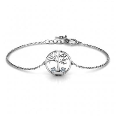 Personalisierte 1 bis 4 Stein Family Tree Armband