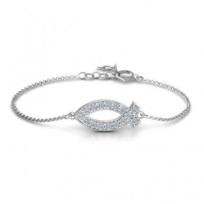 Personalisierte Klassisch Fisch Armband