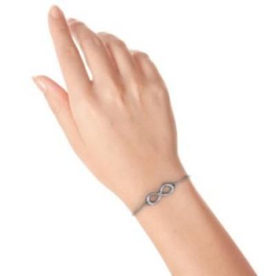 Personalisierte Klassische Unendlichkeit Mit Zentrum Akzente Armband