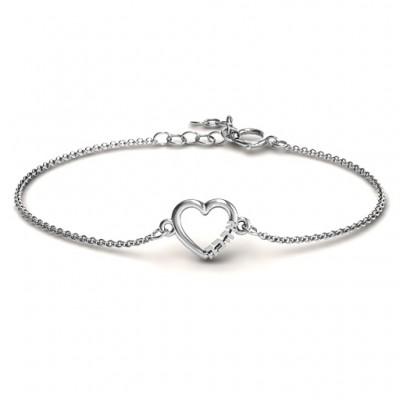 Personalisierte Heart 'Ahava' Armband