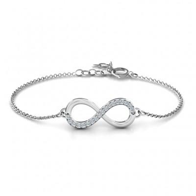 Personalisierte Infinity Armband mit einzelnem Accent Row