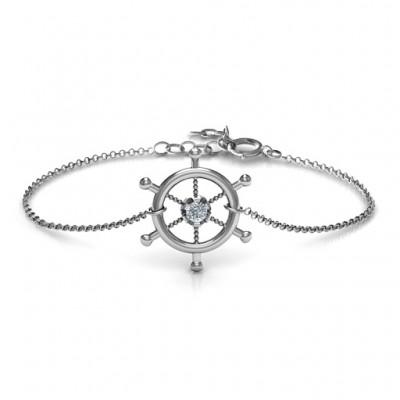 Personalisierte Schiffs Rad Armband