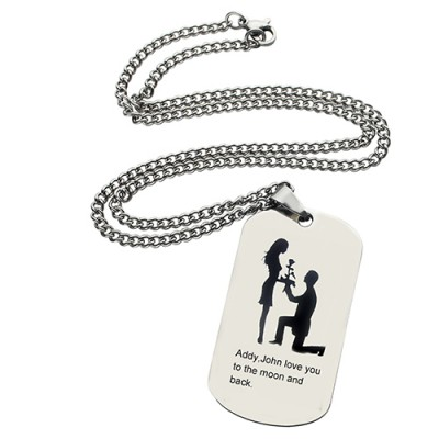 Marriage Proposal Dog Tag Namenskette