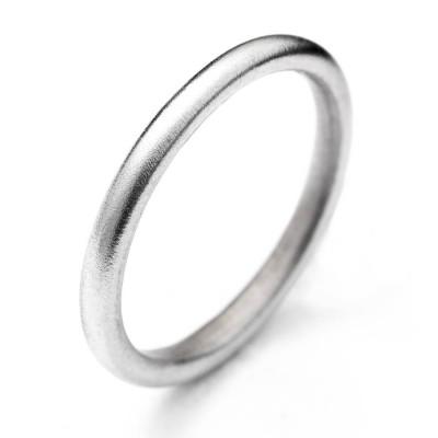 18 Karat Weißgold Halo Ring