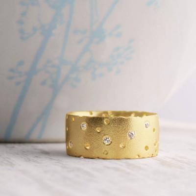 18ct Gelbgold und Diamant Ring