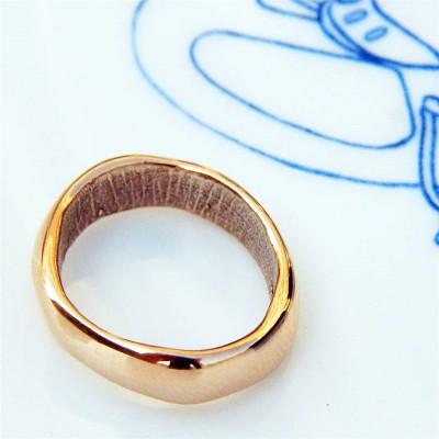 18ct Rose Gold Bespoke Fingerabdruck Ehering