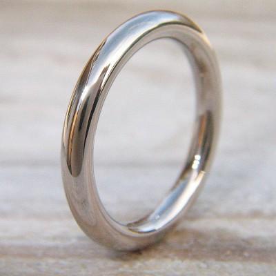 Mens Wedding Ring in 18 Karat Weißgold