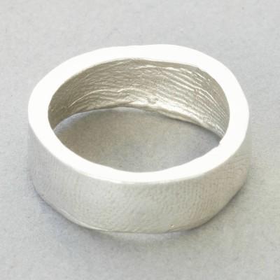 Sterling Silber Bespoke Fingerabdruck Ring