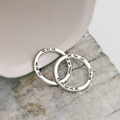 Personalisierte Wort Ring