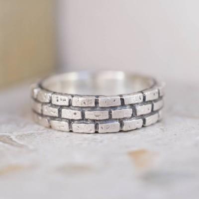 Brick Silber Ring