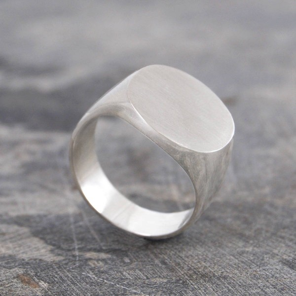 Mens Solid Silver / Gold Rundsiegelring