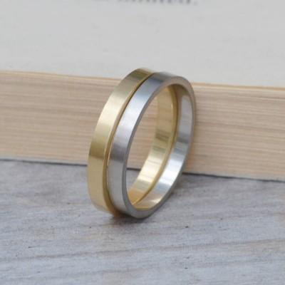 2mm flache Hochzeits Band Hochzeit Ring stapelbare