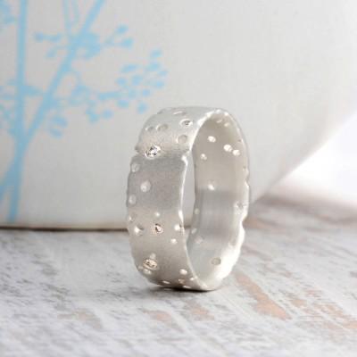 Diamant 18 Karat Weißgold Ring
