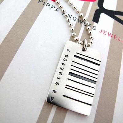 Breite Barcode Tag Anhänger