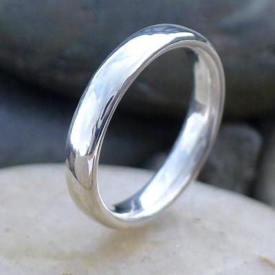 Handgemachte Comfort Fit Silber Ring