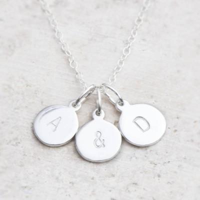 Hand Stamped Silber Personalisierte Charme Halskette