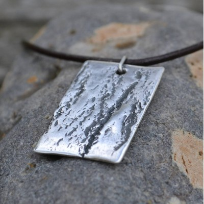 Handmade Silber Dog Tag Halskette