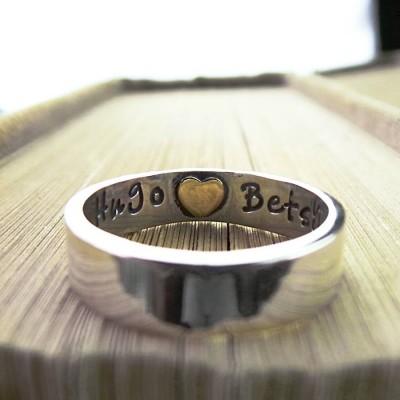 Herz Impressum Personalisierte Ring