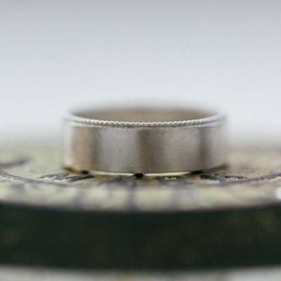 Mens verzierter Wedding Ring in 18 karätigem Gold