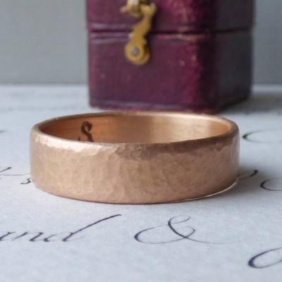 Mars Mens Fair Trade 18ct Rose Gold Ehering