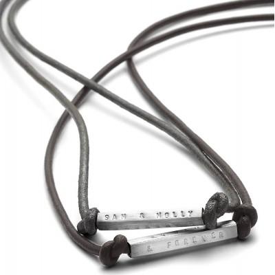 Mens ID Bead Freundschafts Halskette