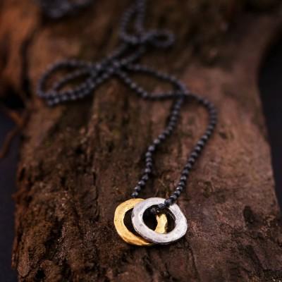 Mensmischmetall Eternity Halskette
