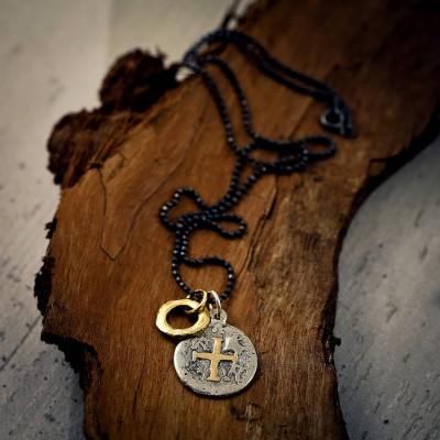 Mens Pieces Of Eight Piraten Halskette