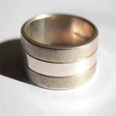 Mens Silber Band Ring