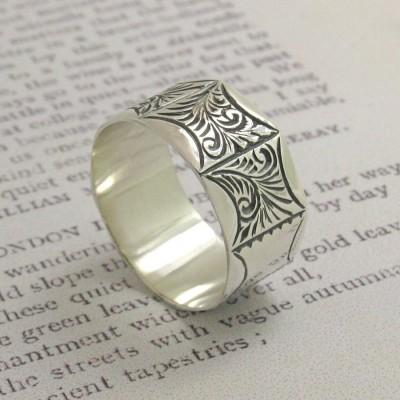 Mens Viktorianischen Stil Ring