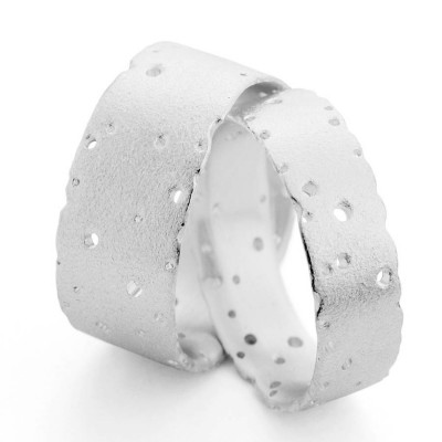 Patterned Silber Band
