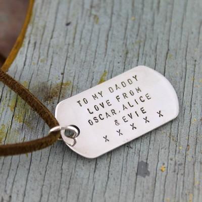 Personalisierte Dog Tag Halskette