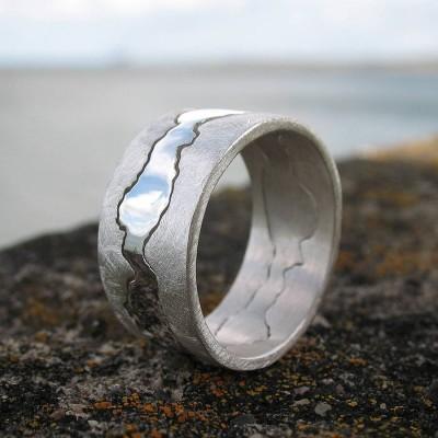 Personalisierte Doppel Küste Ring