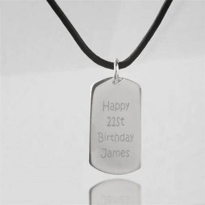 Personalisierte Nachricht Dog Tag Halskette