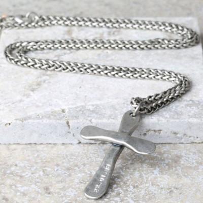 Personalisierte Herren Antik Kreuz Halskette