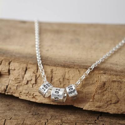Personalisierte Herren Silber Märchenerzähler Halskette