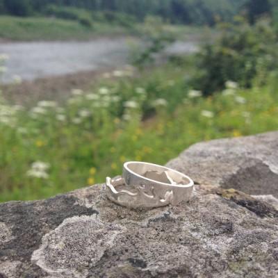 Personalisierte Fluss Ring