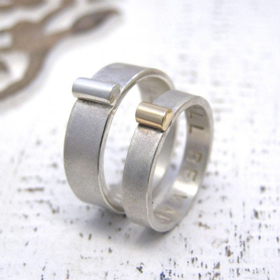 Personalisierte Silber und Gold und für ihn Ringe