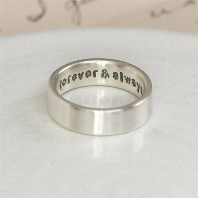 Personalisierte Silber versteckte Nachricht Ring